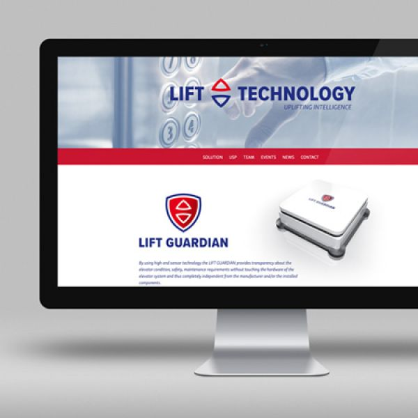 Endlich online: die Website der Lift Technology GmbH